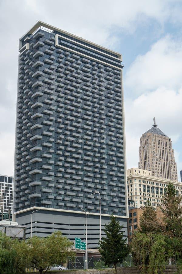 Città di Chicago, agosto 2018 immagine stock