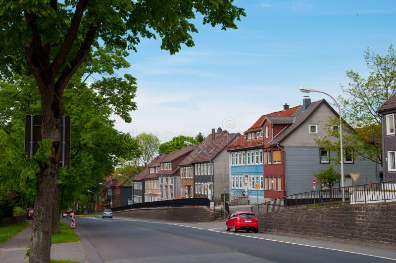 Città di Clausthal-Zellerfeld in Germania fotografia stock libera da diritti