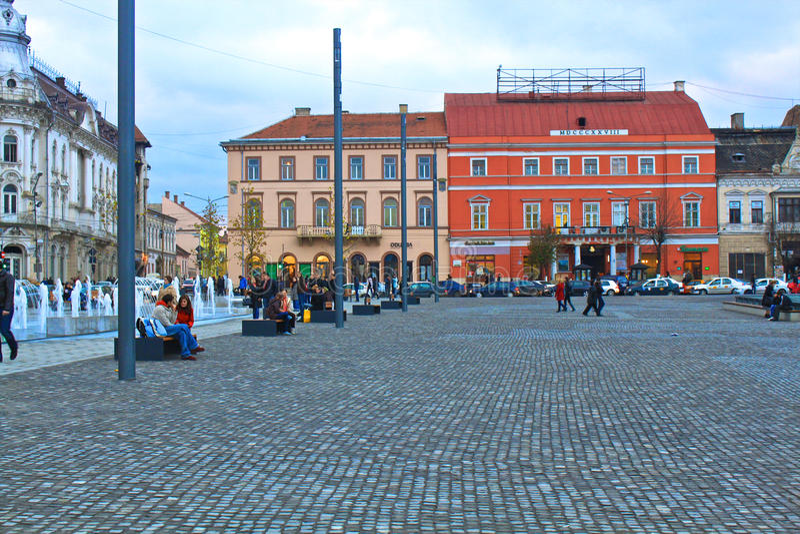 Città di Cluj-Napoca fotografie stock