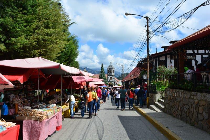 Città di Colonia Tovar, Venezuela immagine stock