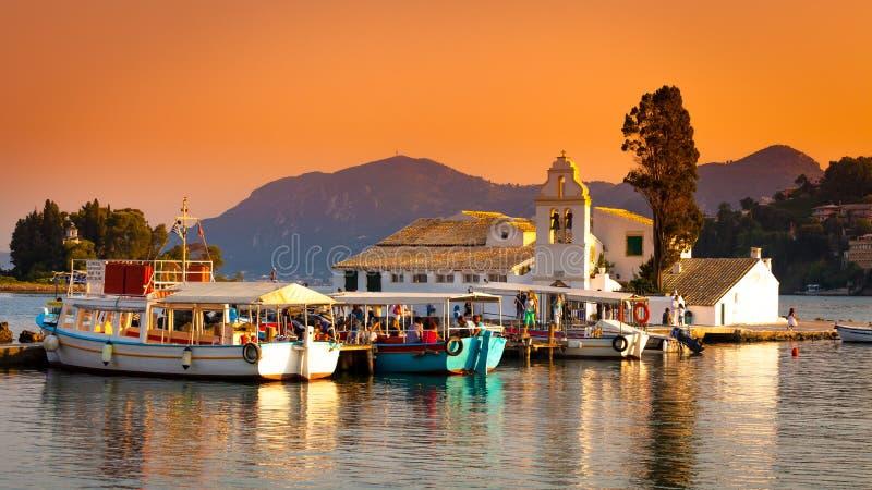 Città di Corfù, Grecia fotografie stock