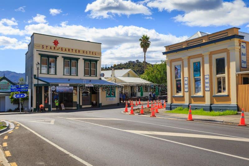 Città di Coromandel, Nuova Zelanda fotografie stock
