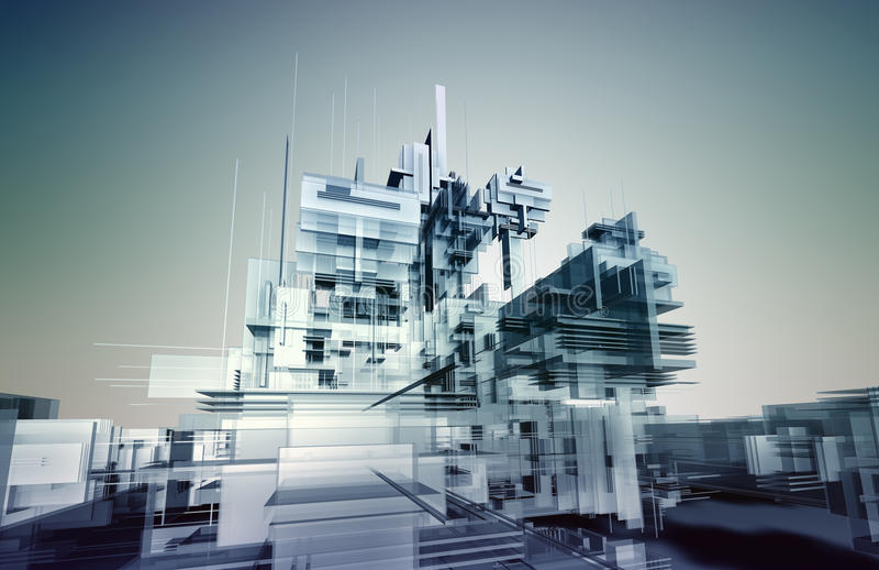 Città di cristallo illustrazione di stock