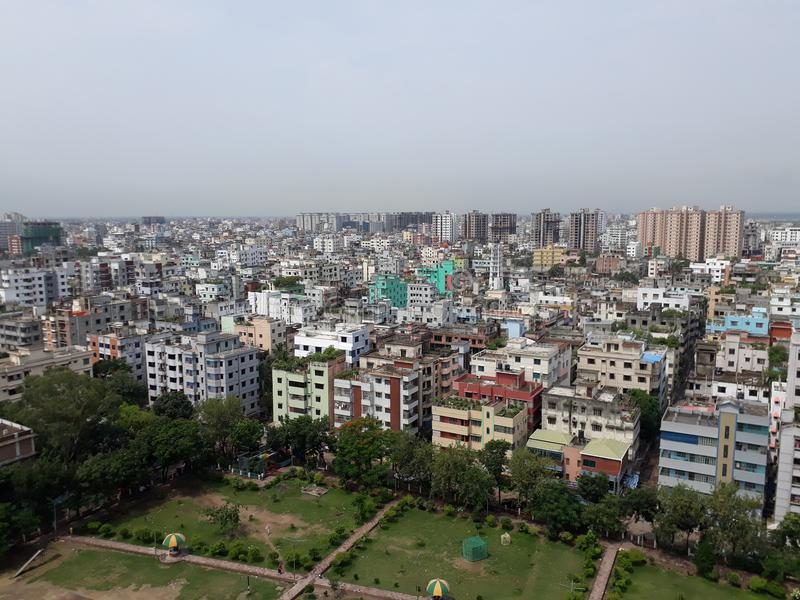 Città di Dacca fotografia stock