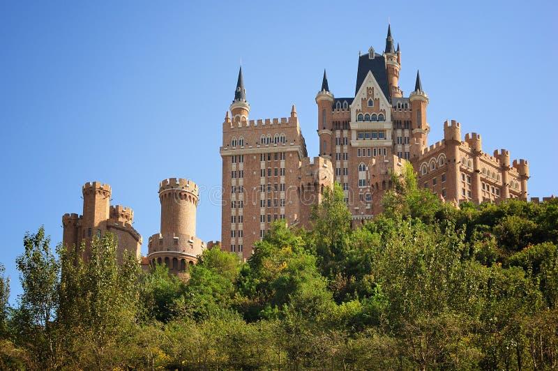 Città di Dalian dell'hotel del castello immagini stock libere da diritti