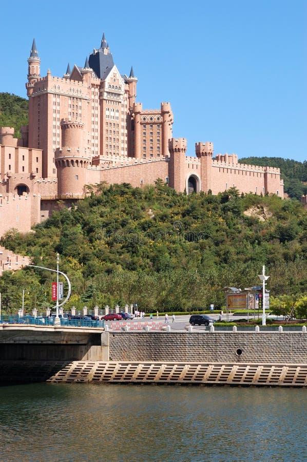 Città di Dalian dell'hotel del castello immagine stock libera da diritti