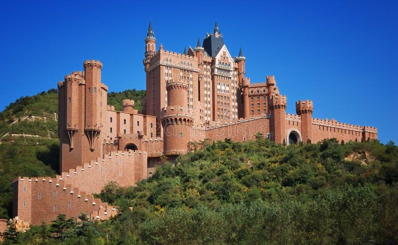 Città di Dalian dell'hotel del castello, Cina fotografia stock