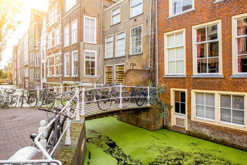 Città di Delft in Netherland fotografia stock