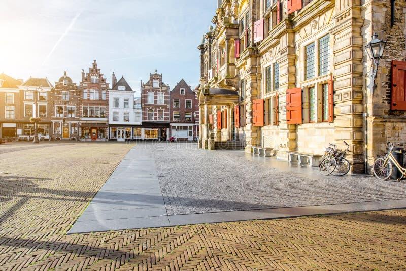 Città di Delft in Netherland fotografie stock