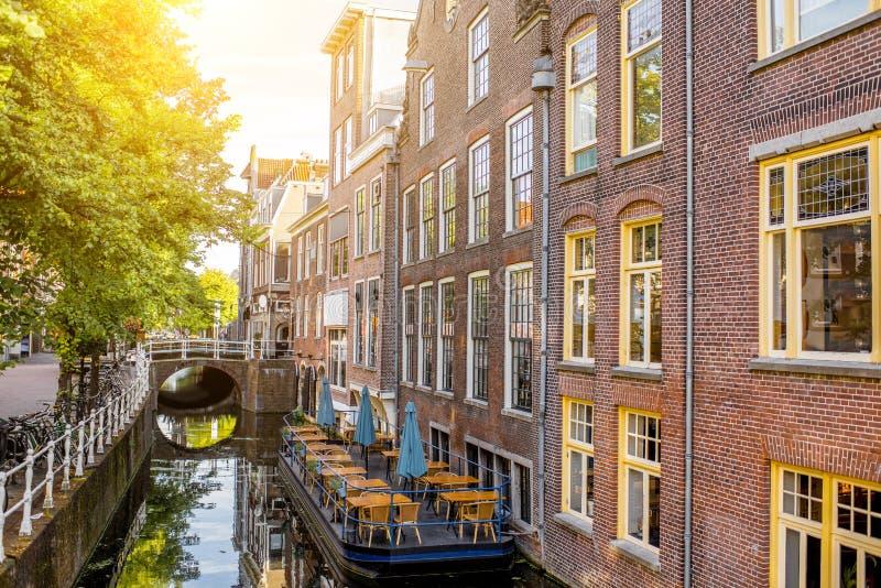 Città di Delft in Netherland immagini stock