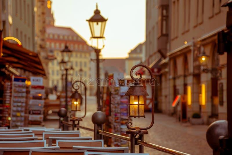 Città di Dresda Centro storico Sera di autunno a Dresda fotografia stock