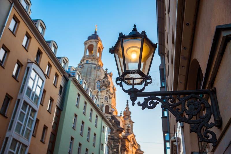 Città di Dresda Centro storico Sera di autunno a Dresda fotografie stock