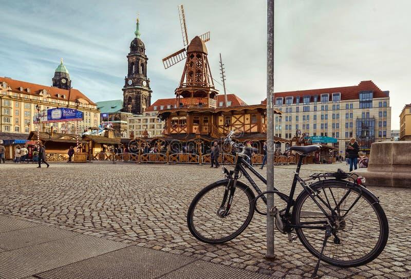 Città di Dresda saxony germany Centro di vecchia città fotografia stock