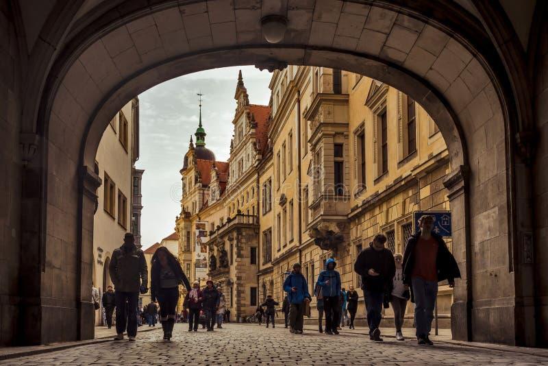 Città di Dresda saxony germany Centro di vecchia città immagini stock