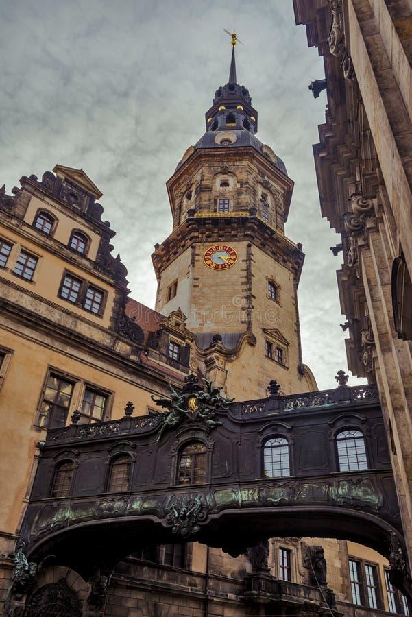 Città di Dresda saxony germany Centro di vecchia città immagine stock libera da diritti