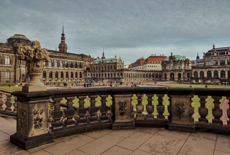Città di Dresda saxony germany Centro di vecchia città fotografie stock