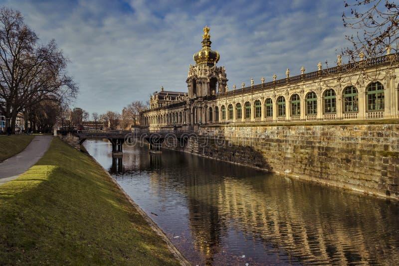 Città di Dresda saxony germany Centro di vecchia città immagine stock