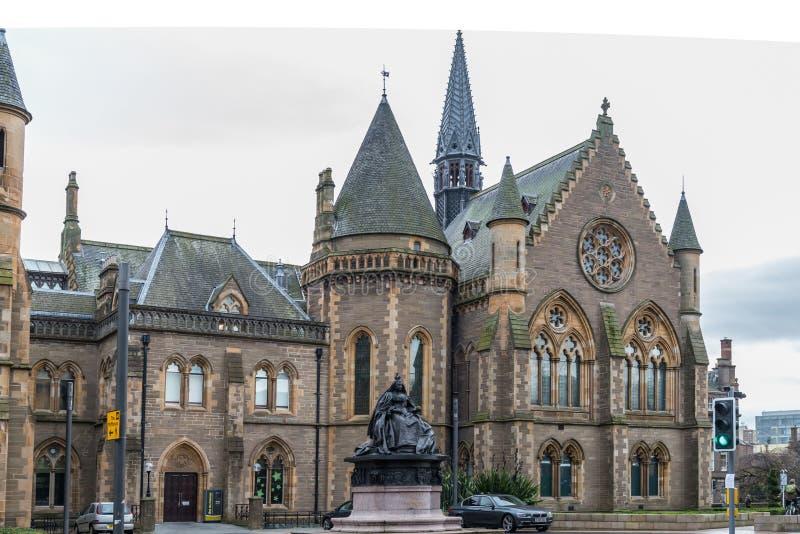 Città di Dundee delle gallerie di McManus fotografia stock libera da diritti