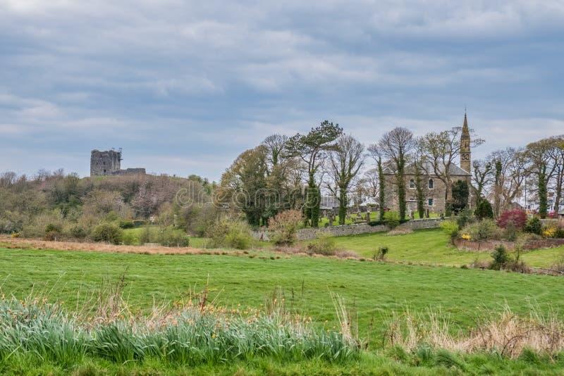 Città di Dundonald, villaggio nel sud ad ovest della Scozia fotografia stock