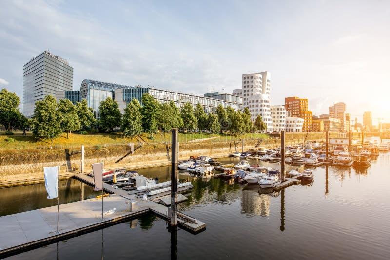 Città di Dusseldorf in Germania immagine stock