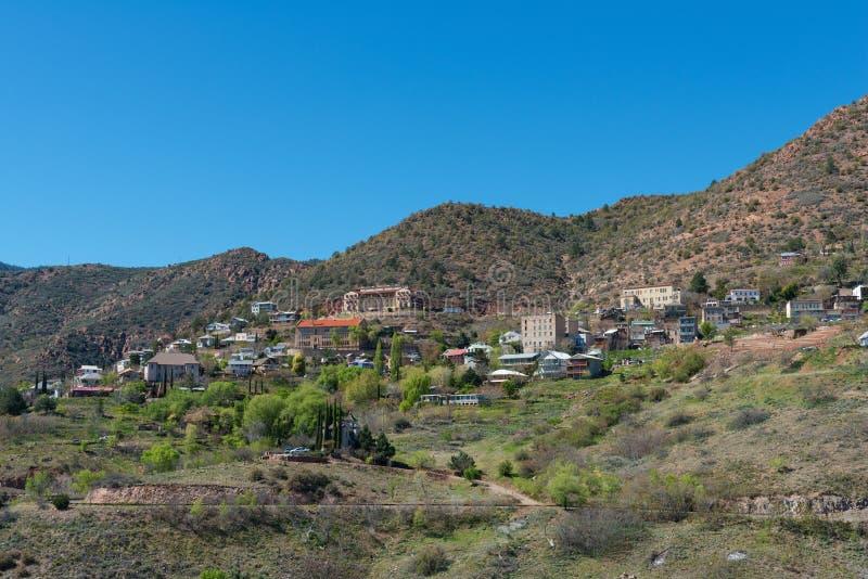 Città di estrazione mineraria della sommità fotografia stock