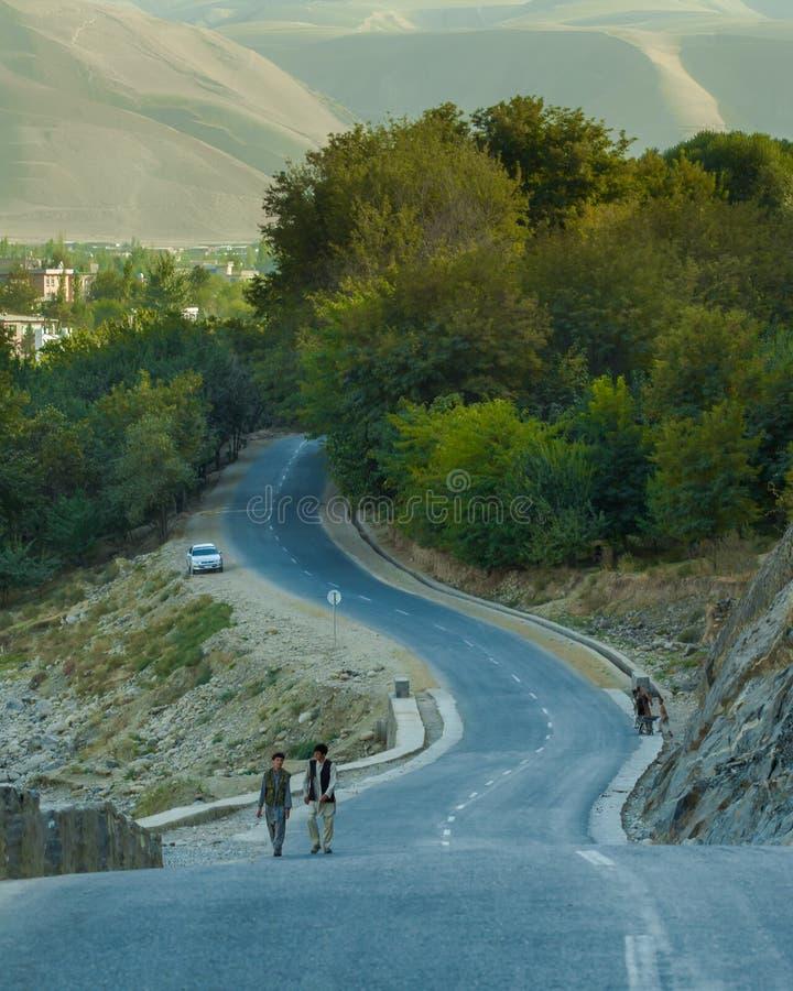 Città di Faizabad nella provincia di Badakhshan fotografie stock