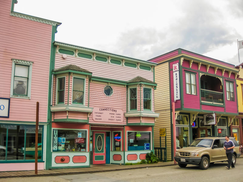Città di febbre dell'oro, Skagway, Alaska fotografia stock libera da diritti