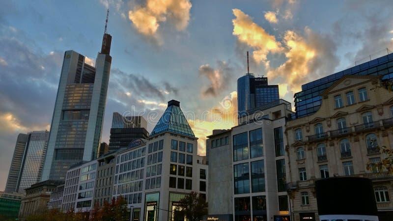 Città di Francoforte fotografia stock libera da diritti
