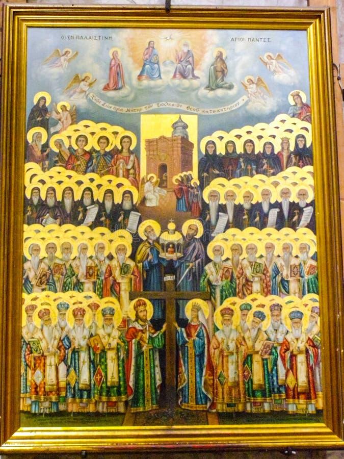 città di Gerusalemme, gli interni delle chiese cristiane immagine stock