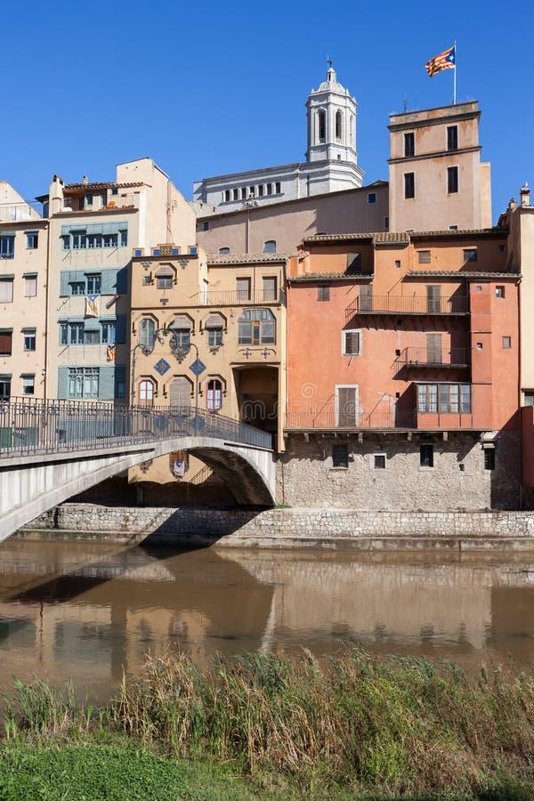 Città di Girona fotografia stock libera da diritti