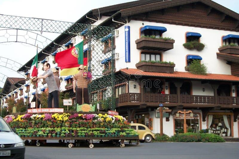 Città di Gramado fotografie stock libere da diritti