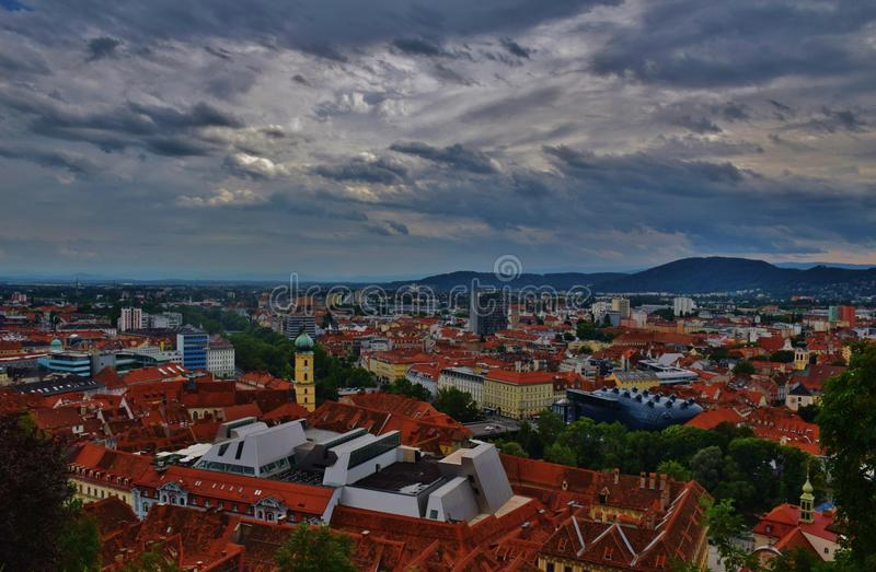 Città di Graz immagine stock