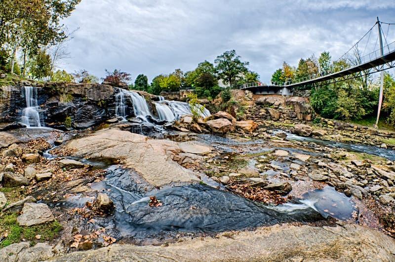 Città di Greenville Carolina del Sud intorno al parco di cadute fotografia stock
