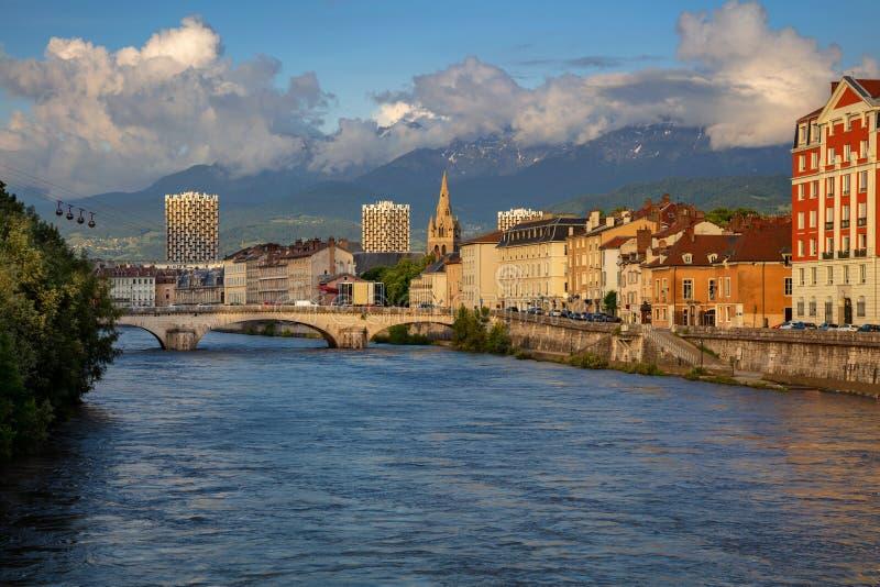 Città di Grenoble, Francia fotografia stock libera da diritti