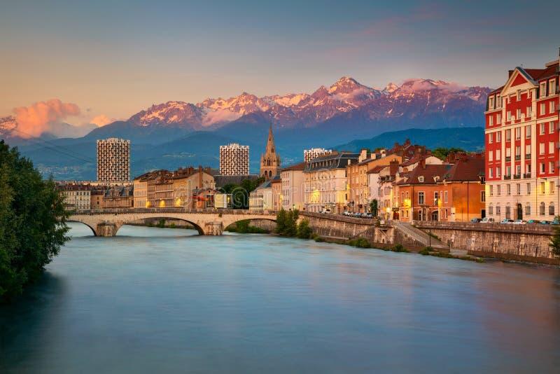 Città di Grenoble, Francia fotografie stock