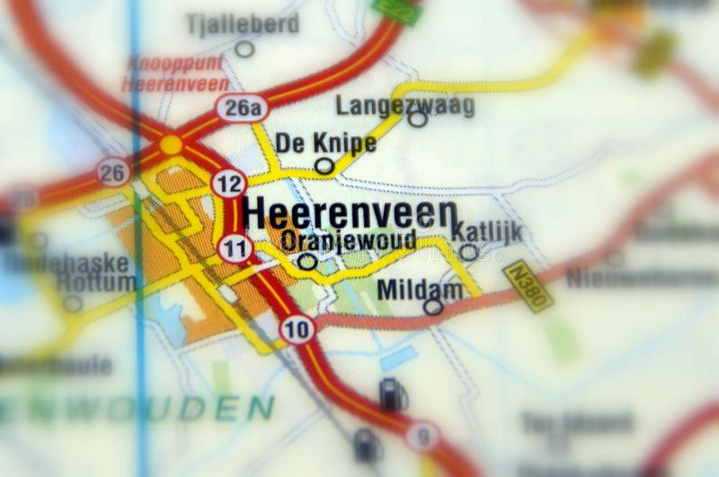 Città di Heerenveen - i Paesi Bassi fotografia stock libera da diritti