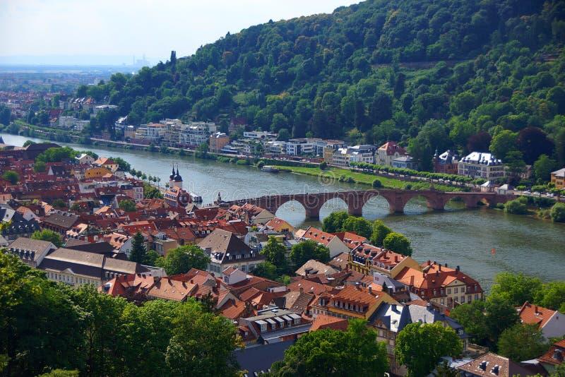 Città di Heidelberg immagini stock libere da diritti
