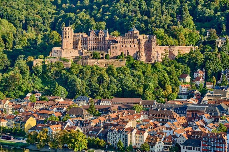 Città di Heidelberg sul fiume Neckar, Germania fotografia stock libera da diritti