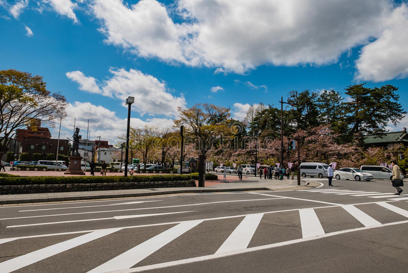Città di Hirosaki immagine stock libera da diritti