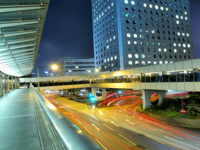 Città di Hong Kong alla notte immagine stock libera da diritti