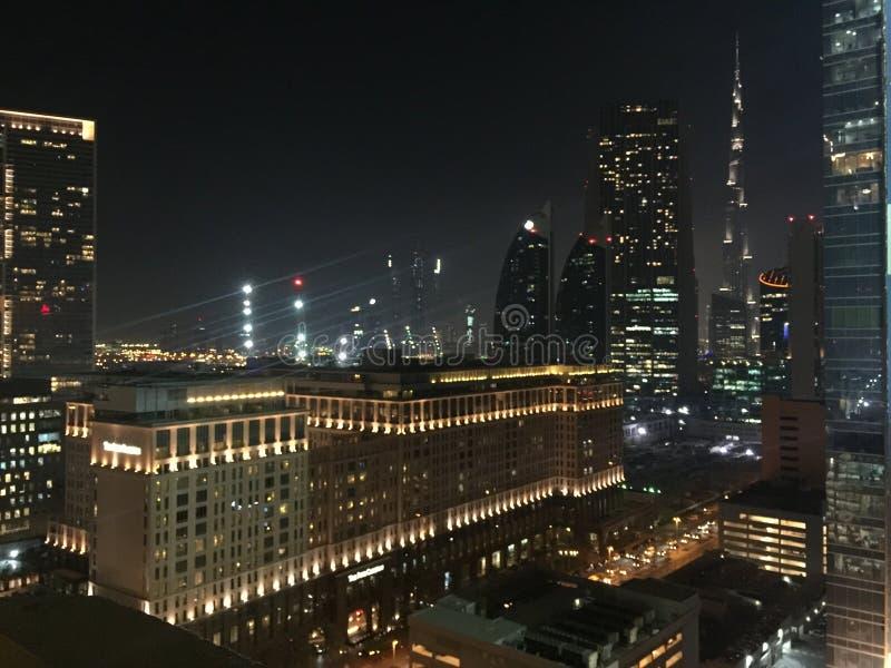 Città di illuminazione immagini stock