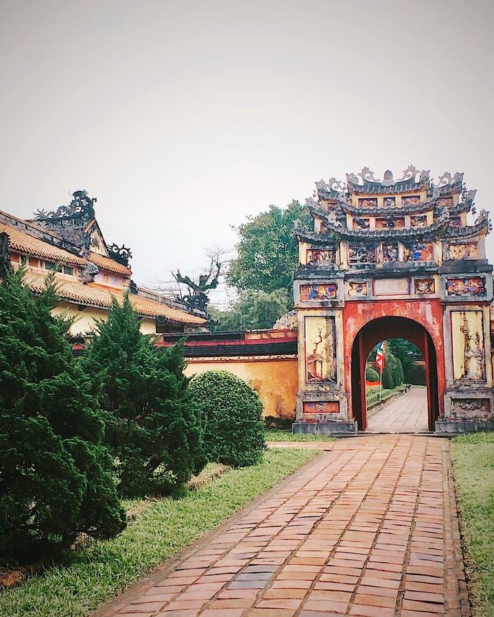 Città di Impérial di Hué Vietnam fotografie stock