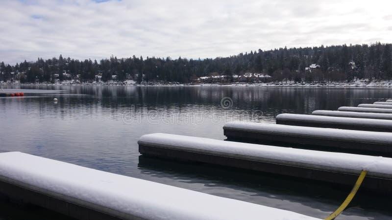 Città di inverno fotografie stock libere da diritti