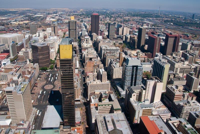 Città di Johannesburg fotografie stock libere da diritti