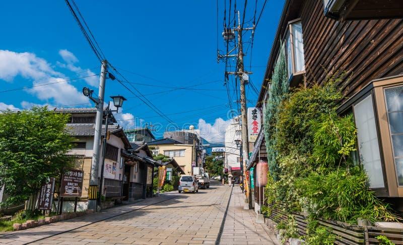 Città di Kannawa di mattina fotografia stock libera da diritti