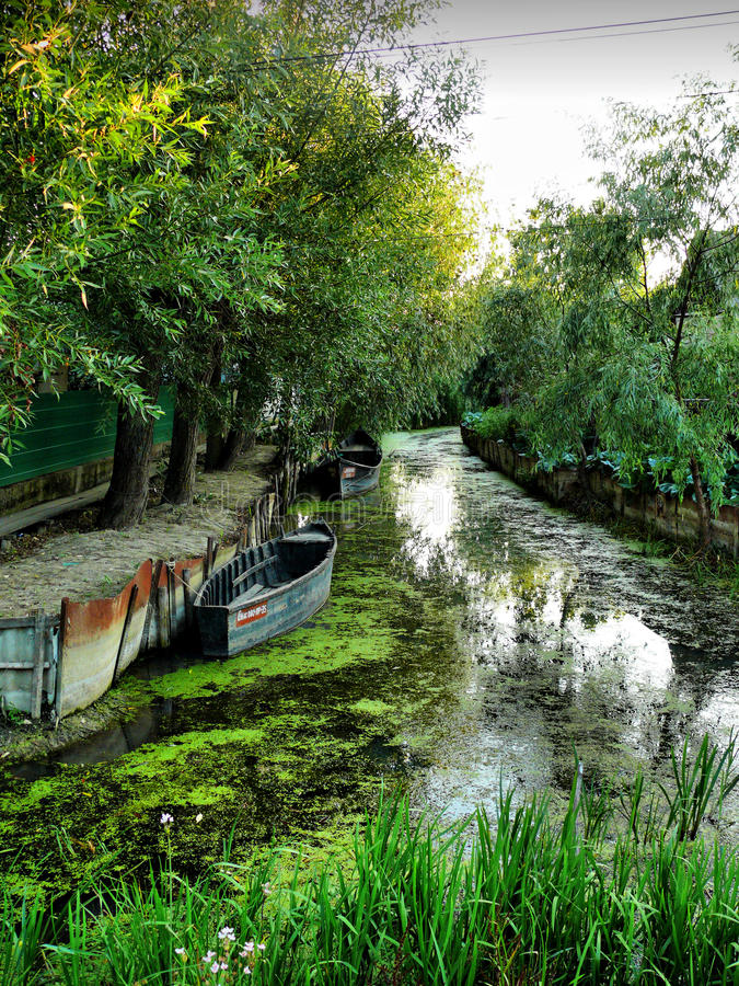 Città di Kiliya Venezia dell'Ucraina fotografia stock libera da diritti