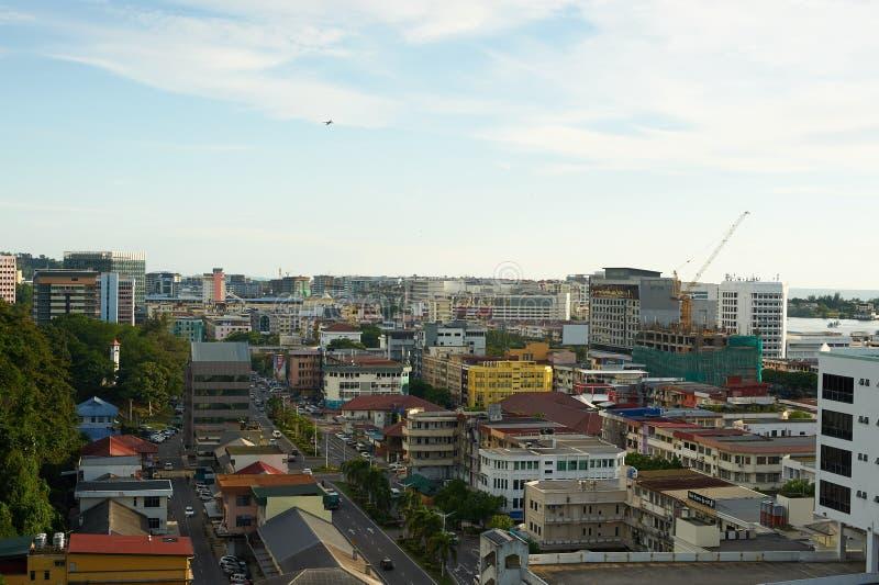 Città di Kota Kinabalu fotografia stock