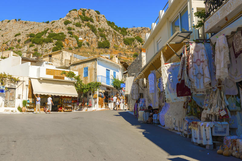 Città di Kritsa in Creta, Grecia immagine stock