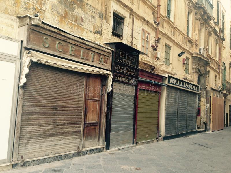 Città di La Valletta fotografie stock