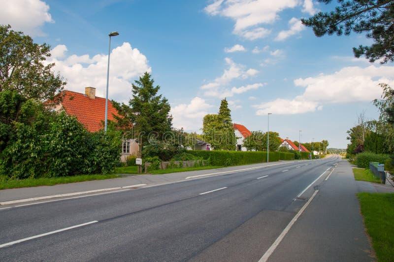 Città di Lendemarke in Danimarca immagine stock libera da diritti